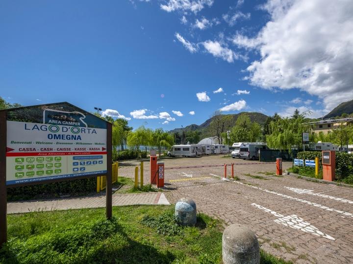 Area Camper Lago d'Orta ingresso